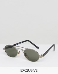 Reclaimed Vintage Inspired Round Sunglasses In Gold Gold