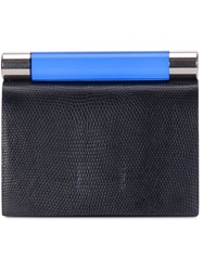Calvin Klein Collection Top Bar Clutch Blue