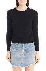 Saint Laurent Women's Lace Back Sweater