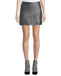 Bailey 44 Winning Streak Metallic Mini Skirt Black