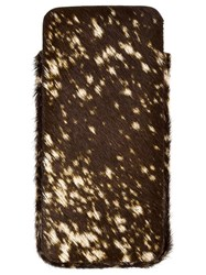 Isaac Reina Dotted Fur Iphone 6 Case Brown