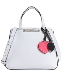 Guess Britta Society Small Top Handle Satchel White