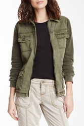 Marrakech Lanna Knit Sleeve Cargo Jacket Green