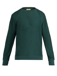 Burberry Coleford Logo Embroidered Jersey Sweatshirt Green