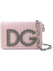 Dolce And Gabbana Dg Girls Shoulder Bag Pink And Purple