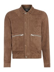 Replay Men's Crinkled Leather Jacket Brown