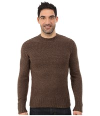 Royal Robbins Scotia Ribbed Crew Timber Men's Sweater Brown
