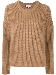 Paul And Joe Cable Knit Jumper Brown