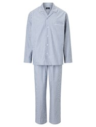 John Lewis Oxford Stripe Pyjamas Navy