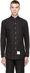 Thom Browne Black Animal Embroidered Shirt
