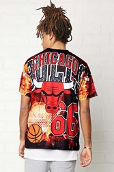 Forever 21 Nba Chicago Bulls Graphic Tee Black Red