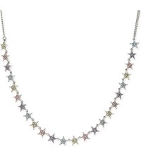 Marc Jacobs Twinkle Star Necklace Antique Silver Multi