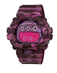 G Shock Baby G Ladies S Series Pink Camo Stainless Steel And Resin Watch Black