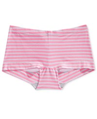 Maidenform Dream Cotton Tailored Boyshort Dm0002 Pink Ribbon Stripe