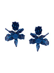 Lele Sadoughi Crystal Lily Earrings Blue