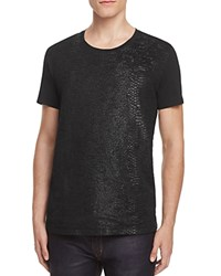 Hugo Desert Snake Embossed Tee Black