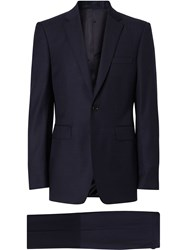 Burberry Classic Fit Wool Suit Blue