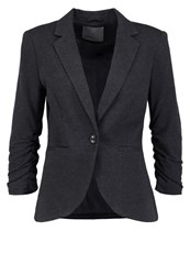 Vero Moda Vmsparkle Blazer Dark Grey Melange Mottled Dark Grey
