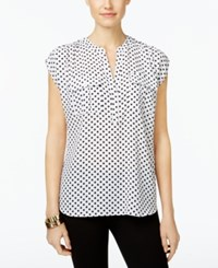 Inc International Concepts Cap Sleeve Utility Shirt Only At Macy's Junior Dot