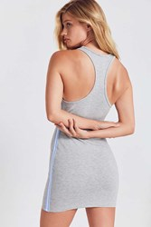 Silence And Noise Athletic Tape Striped Bodycon Dress Light Grey