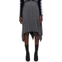Acne Studios Grey Stripe Suiting Skirt