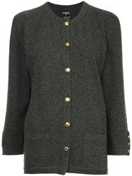 Chanel Vintage Buttoned Up Cardigan Grey