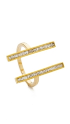Maiyet Double Baguette Open Ring Gold