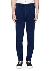Scotch And Soda Cloque Panel French Terry Jogging Pants Blue