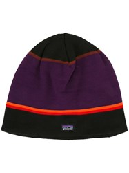 Patagonia Striped Beanie Pink Purple