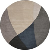 Chandra Bense 3003 Patterned Round Contemporary Area Rug Gray