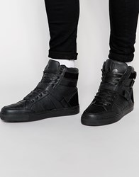 Criminal Damage Tower High Top Trainers Black