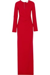 Lanvin Gathered Stretch Crepe Gown