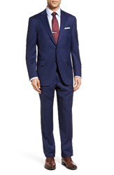 Peter Millar Men's Classic Fit Windowpane Wool Suit