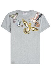 Red Valentino R.E.D. Printed Cotton T Shirt Grey