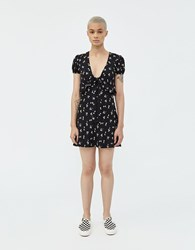 Which We Want Kiran Floral Dress Black