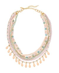 Emily And Ashley Lavender Six Strand Crystal Shaker Necklace