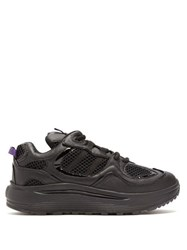 Eytys Jet Turbo Exaggerated Sole Leather Trainers Black
