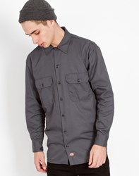 Dickies Long Sleeve Work Shirt Grey