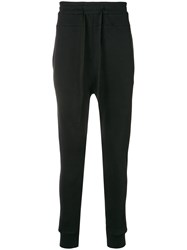 Ann Demeulemeester Droped Crotch Track Trousers Black