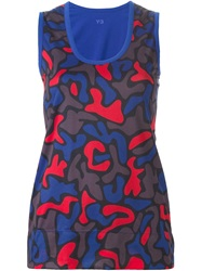 Y 3 Reversible Camouflage Tank Top Blue