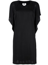 Maison Martin Margiela Mm6 Sheer Detail T Shirt Dress Black