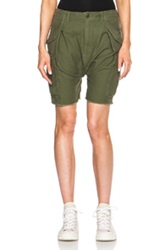 Nlst Harem Cargo Shorts In Green