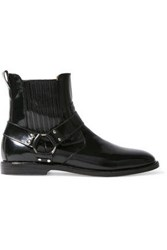 Dieppa Restrepo Woman Ace Glossed Leather Ankle Boots Black
