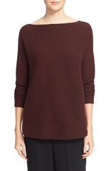 Vince Women's Boatneck Horizontal Rib Cashmere Sweater