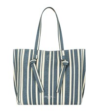 Max Mara Weekend Reversible Leather Striped Tote Bag Female Multi