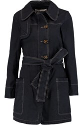See By Chloe Cotton Twill Trench Coat Midnight Blue
