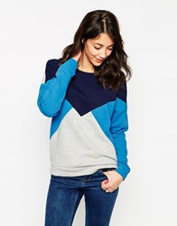 Vero Moda Colour Block Sweatshirt Ltgrey