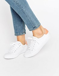 Asos Darby Lace Up Trainers White