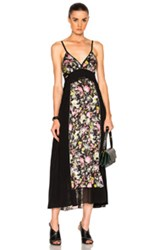 3.1 Phillip Lim Meadow Flower Maxi Dress In Black Floral Pink Yellow Black Floral Pink Yellow