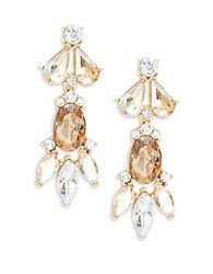 Trina Turk Faceted Crystal Cluster Drop Earrings Gold